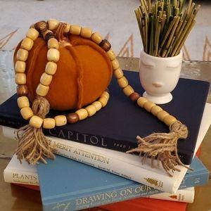 Wood bead garland